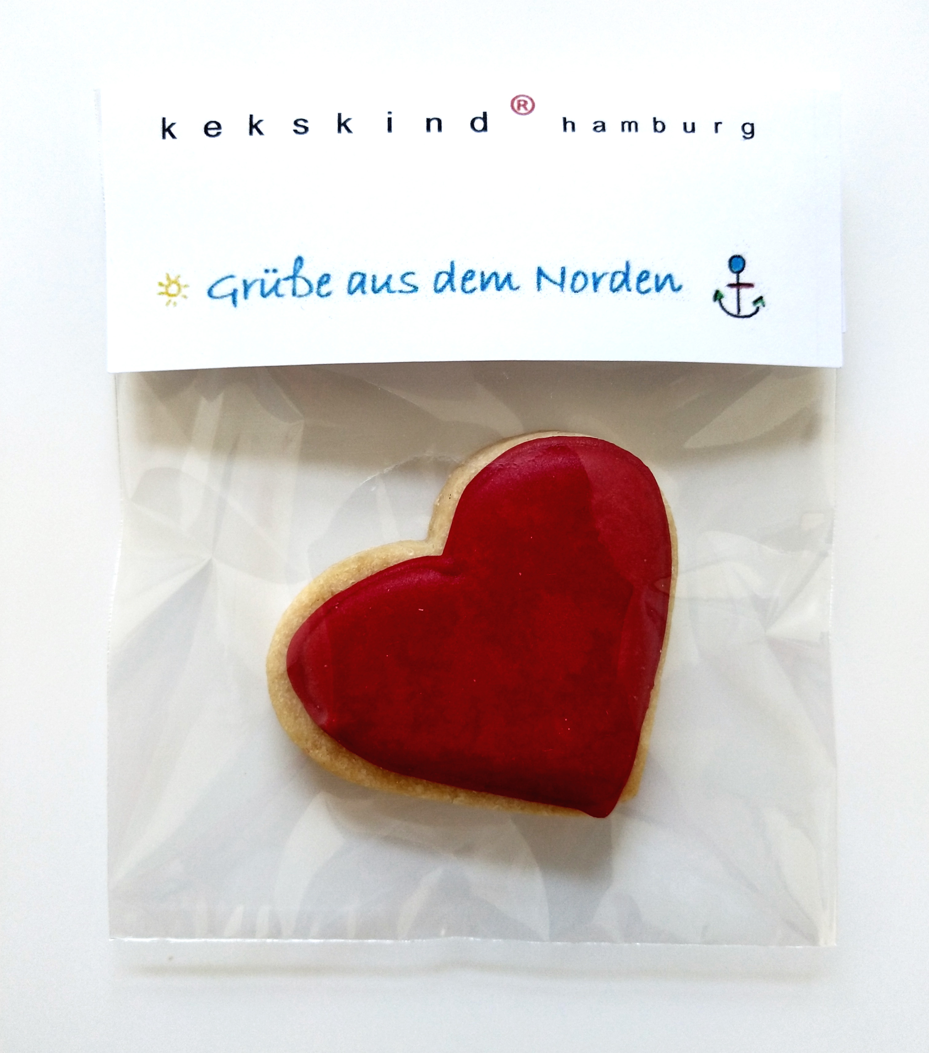 bedruckbare Banderole für Keksverpackung