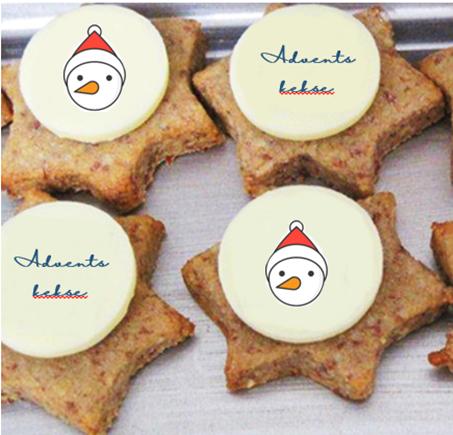 Buttercookies mit Firmenlogo