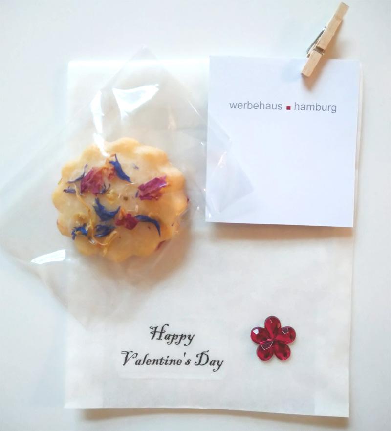 Flachtüte aus Pergamin mit dem Motiv Valentines Day
