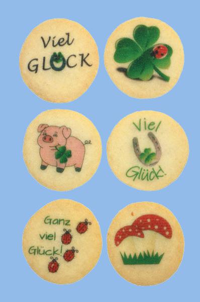 Kekse mit farbigem LOGODRUCK