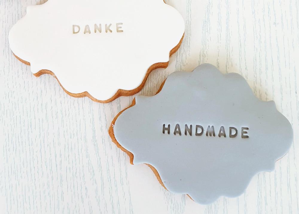 personalisierte kekse mit schriftzug